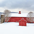 New England Barns Square by Bill Wakeley