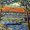 New England Covered Bridge By Prankearts by Richard T Pranke