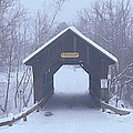 New England Covered Bridge In Winter by Panoramic Images