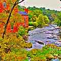 New England Stream In Fall by Jack Schultz