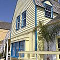 New England Style Building At Fisherman's Village Marina Del Rey Los Angeles by Peter Lloyd