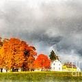 New England Village by Edward Fielding