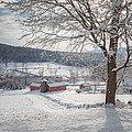 New England Winter Farms Morning by Bill Wakeley