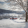 New England Winter Farms Morning Square by Bill Wakeley