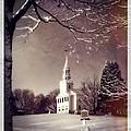 New England Winter Village Scene by Thomas Schoeller