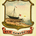 New Hampshire Coat Of Arms - 1876 by Mountain Dreams