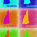 New Hampshire Pop Art Map 2 by Naxart Studio