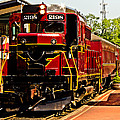 New Hope Ivyland Railroad With Cars by Tom Gari Gallery-Three-Photography