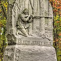New Jersey At Gettysburg - 13th Nj Volunteer Infantry Near Culps Hill Autumn by Michael Mazaika
