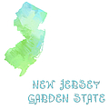 New Jersey - Garden State - Map - State Phrase - Geology by Andee Design