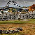 New Lake Champlain Bridge Over Fort Crown Point Panorama by Adam Jewell