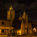 New Mexico Church Night by Angus Hooper Iii