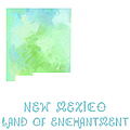 New Mexico - Land Of Enchantment - Map - State Phrase - Geology by Andee Design
