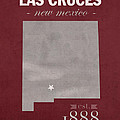New Mexico State University Las Cruces Aggies College Town State Map Poster Series No 075 by Design Turnpike