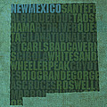 New Mexico Word Art State Map On Canvas by Design Turnpike