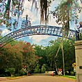 New Orleans City Park - Pizzati Gate Entrance by Deborah Lacoste