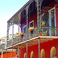 New Orleans French Quarter Architecture 2 by Saundra Myles