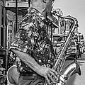 New Orleans Jazz Sax Bw by Steve Harrington
