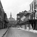 New Orleans Old French Quarter by Underwood Archives