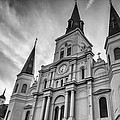New Orleans St Louis Cathedral Bw by Steve Harrington