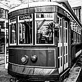 New Orleans Streetcar Black And White Picture by Paul Velgos