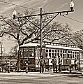 New Orleans Streetcar Sepia by Steve Harrington