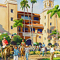 New Paddock At Del Mar by Mary Helmreich
