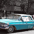 Americana Vintage Sky Blue Chevrolet by Toula Mavridou-Messer