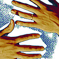 New Photographic Art Print For Sale   Hands Against A White Background by Toula Mavridou-Messer