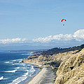 Hanggliding Above The Pacific Ocean And Mountains 10 by Toula Mavridou-Messer