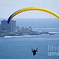 Hanggliding Over San Diego by Toula Mavridou-Messer