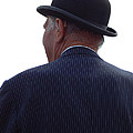 New Photographic Art Print For Sale   Iconic London Man In Bowler Hat by Toula Mavridou-Messer