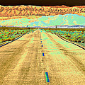New Photographic Art Print For Sale Long Road To The Valley Of Fire by Toula Mavridou-Messer