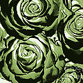 New Photographic Art Print For Sale Pop Art Camo Green Roses by Toula Mavridou-Messer