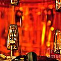 Transparent Orange Drum Backstage At The American Music Award by Toula Mavridou-Messer