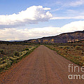 Red Road From The Benedictine Abbey Of Christ In The Desert New Mexico  by Toula Mavridou-Messer