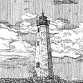 New Point Comfort Lighthouse by Stephany Elsworth