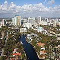 New River And Downtown Fort Lauderdale by Bill Cobb