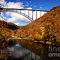 New River Gorge Bridge In Autumn by Larry Ricker