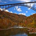 New River Gorge Fiery Fall Colors by Adam Jewell