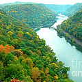 New River Gorge Viewed From Hawks Nest State Park by Thomas R Fletcher