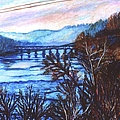 New River Trestle In Fall by Kendall Kessler
