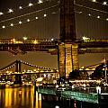New York - Brooklyn Bridge Night by Amador Esquiu Marques