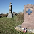 New York And Pennsylvania Unit Monuments At Gettysburg by William Kuta