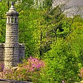New York At Gettysburg - Monument To 12th / 44th Ny Infantry Regiments-1a Little Round Top Spring by Michael Mazaika