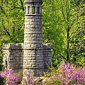 New York At Gettysburg - Monument To 12th / 44th Ny Infantry Regiments-2a Little Round Top Spring by Michael Mazaika