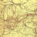 New York Central And Hudson River Railroad 1900 by Mountain Dreams