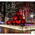 New York Christmas Card by Nancy De Flon
