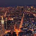 New York City At Night by Oscar Gutierrez
