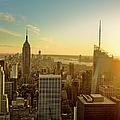 New York City At Sunset by Aluxum